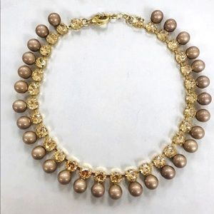 Gold Baubles and Crystals Necklace, NWT